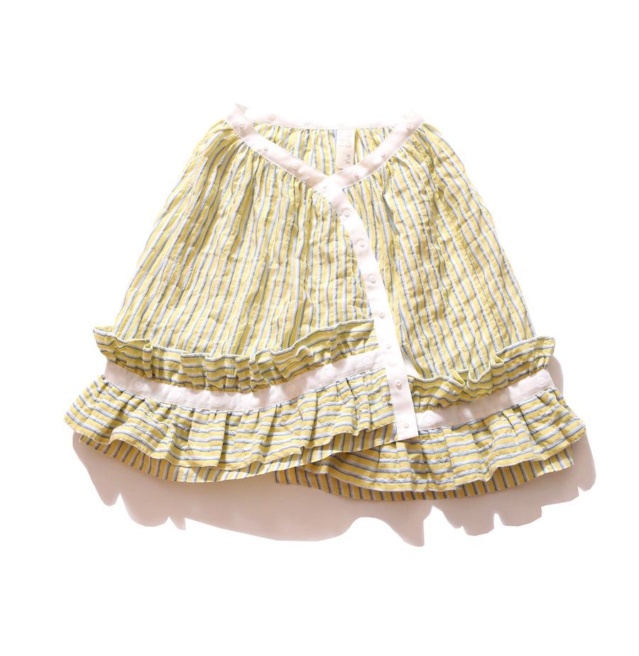 Ruffled Polonaise Wrap Skirt