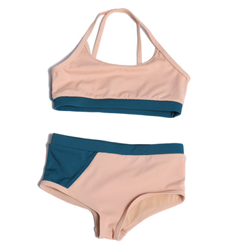 Color Block Tankini