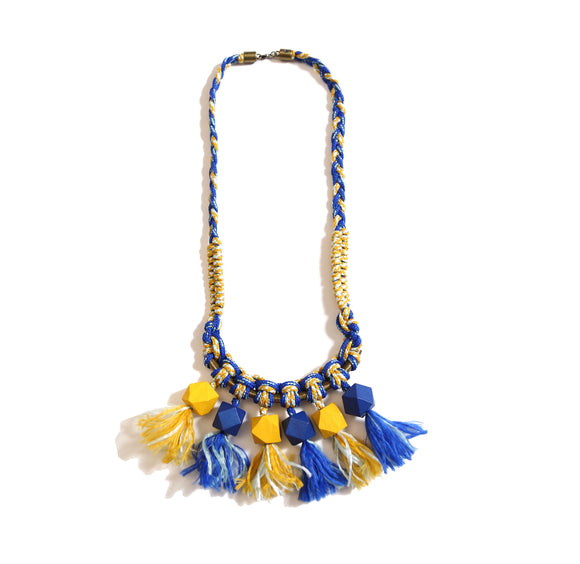 Braided Beaded Fringe Necklace