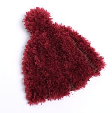 Sherpa Trimmed Ribbed Hat