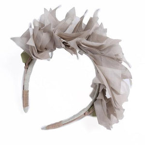 Stacked Feathered Muslin Tiara