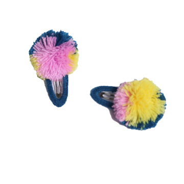 Fringe Pompom Hair Clip (Set of 2)