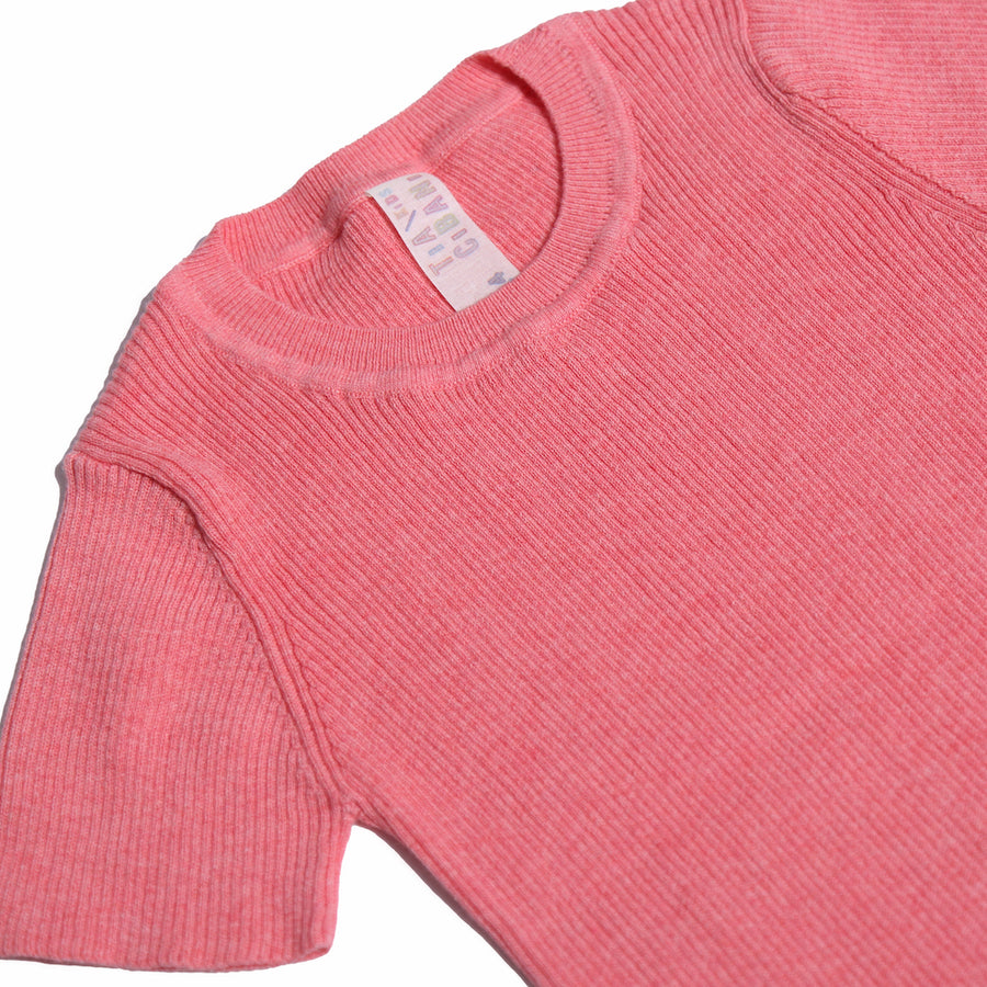 Short Sleeve RIbbed Crew Neck