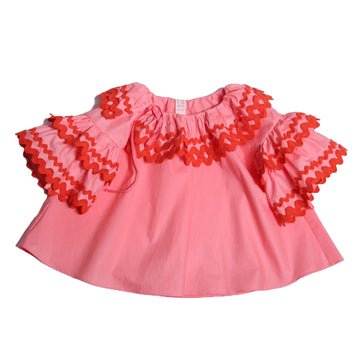 Aida Ruffle Collar Blouse