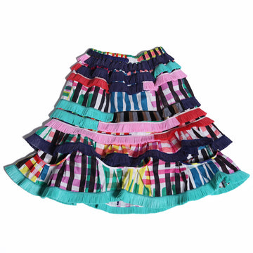 Abeba Ruffled Pull On Skirt