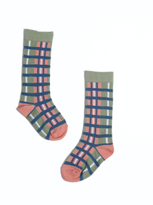 Jakob Gingham Knee Socks
