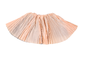 Crushed Pleated Twirl Skirt
