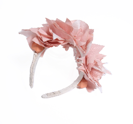 Stacked Feathered Muslin Headband