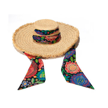 Maisonette Exclusive Fringed Wrap Sun Hat