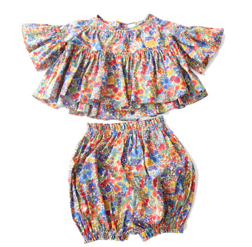 Maritza Tiered Blouse + Bloomers Set