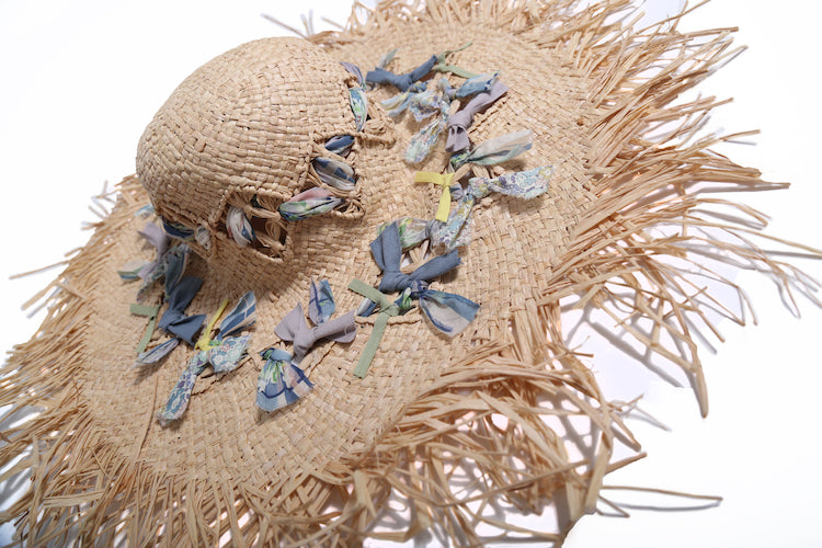 Womens Eve Fringed Sun Hat