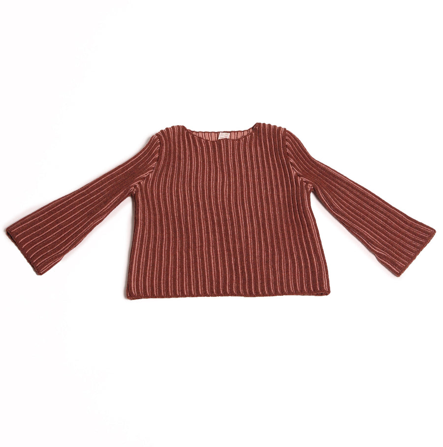 Ribbed Duo-tone Pullover