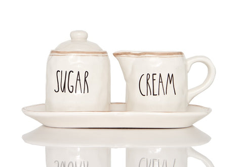 Countryside Sugar and Cream Set on Tray