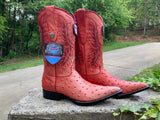Size 9-1/2 women's handmade ostrich embossed boots