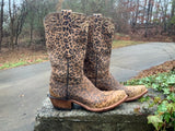 Size 6 women's Lucchese leopard boots