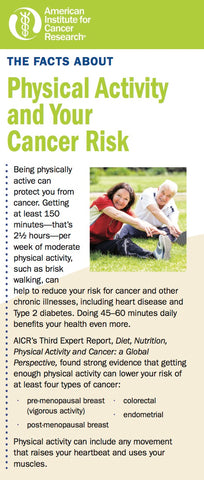 The Facts about Physical Activity and Your Cancer Risk (Pack of 25)