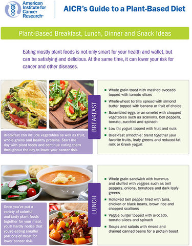 INSTANT DOWNLOAD: Plant-Based Menu Ideas