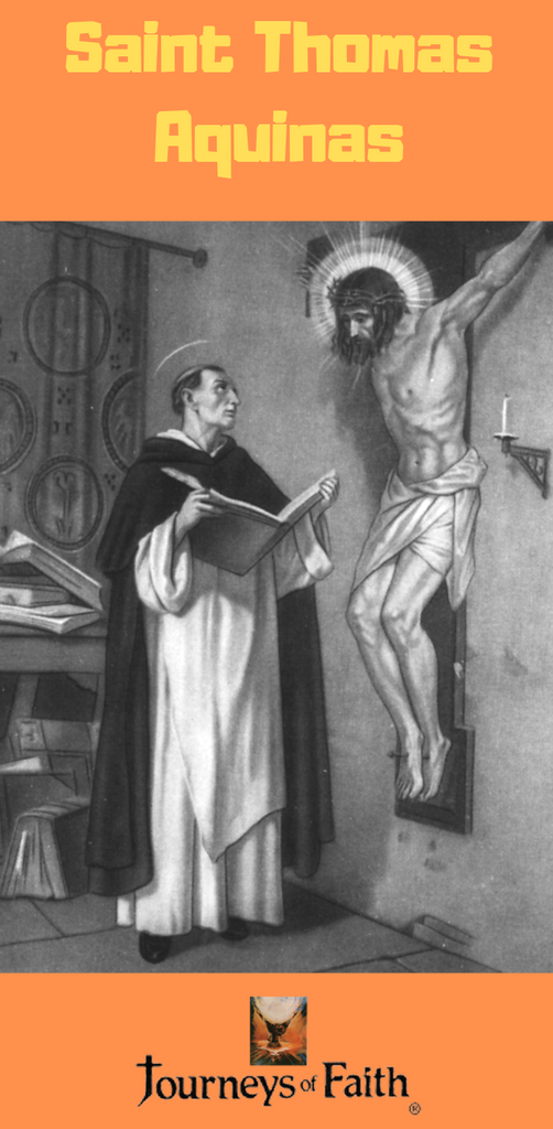 Jesus speaks to Saint Thomas Aquinas from the Crucifix