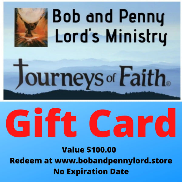 Bob and Penny Lord Store Gift Card Choose your Amount - Bob and Penny Lord