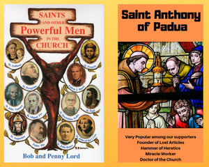 Saints and Other Powerful Men Book and Companion Saint Anthony of Padua DVD - Bob and Penny Lord