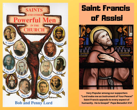 Saints and Other Powerful Men Book and Companion Saint Francis of Assisi DVD - Bob and Penny Lord