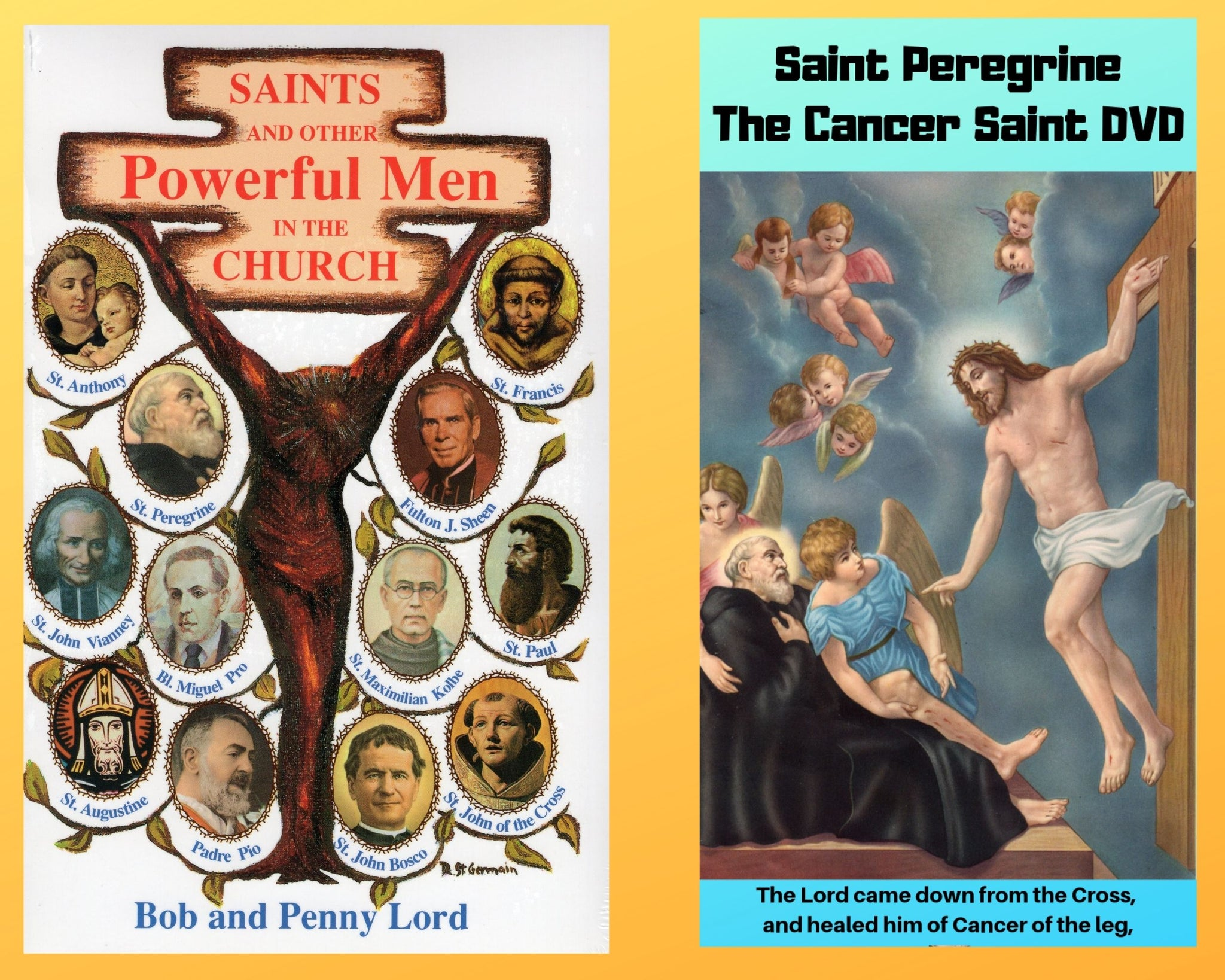 Saints And Other Powerful Men Book and Companion Saint Peregrine DVD - Bob and Penny Lord