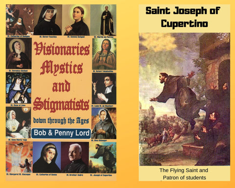 Visionaries Mystics and Stigmatists Book and Companion Saint Joseph of Cupertino DVD - Bob and Penny Lord