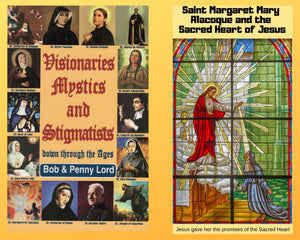 Visionaries Mystics and Stigmatists Book and Companion Saint Margaret Mary Alacoque DVD - Bob and Penny Lord