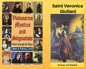 Visionaries Mystics and Stigmatists Book and Companion Saint Veronica Giuliani DVD - Bob and Penny Lord