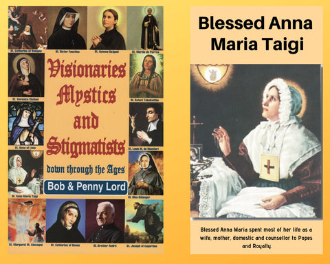 Visionaries Mystics and Stigmatists Book and Companion Blessed Anna Maria Taigi DVD - Bob and Penny Lord