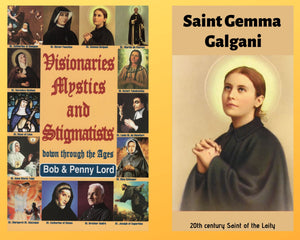 Visionaries Mystics and Stigmatists Book and Companion Saint Gemma Galgani DVD - Bob and Penny Lord