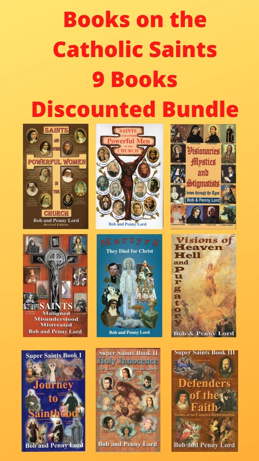 Books on the Sai nts 9 Books Discounted Bundle