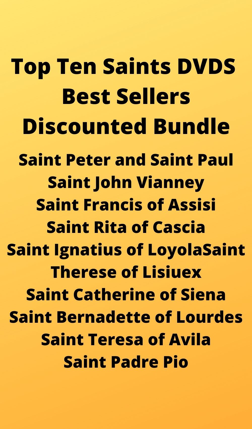 Top Ten Sai nts DVDS Best Sellers Discounted Bundle - Bob and Penny Lord