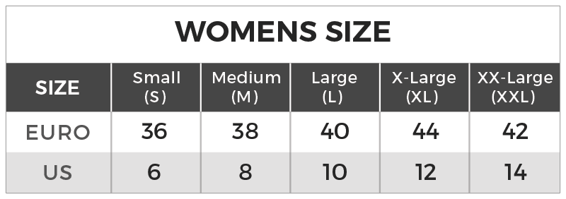 Sizing Chart Womens
