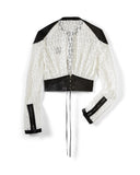 Black Leather/White Lace Moto