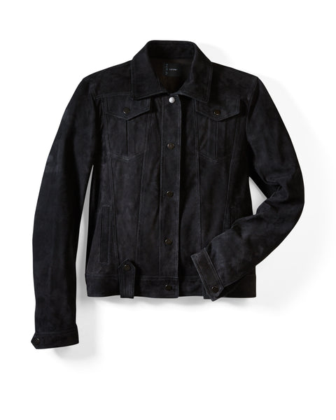 Black Suede Western Jacket