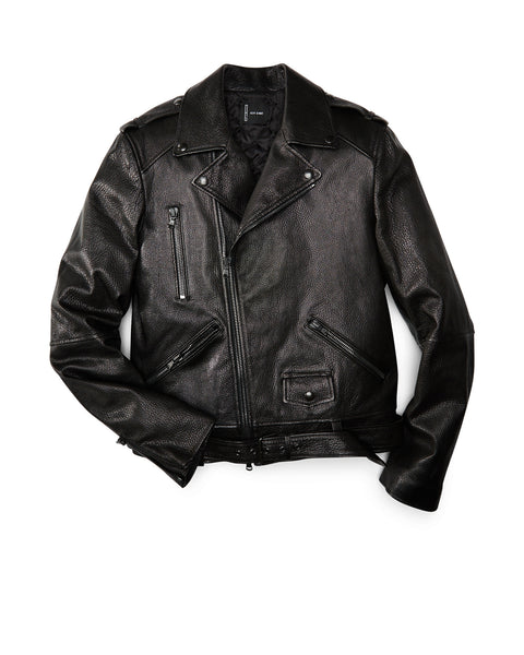 Black Pebble Biker Jacket