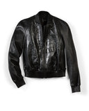 "Black Shiny ""Big Croc"" and ""Scar"" Bomber Jacket"