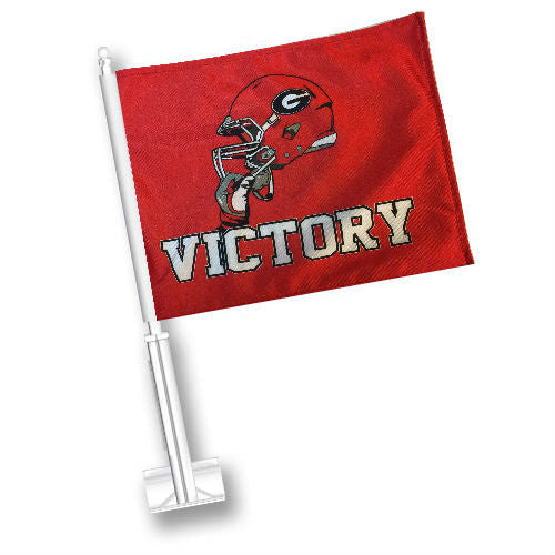 Georgia Bulldogs UGA Helmet Victory Car Flag