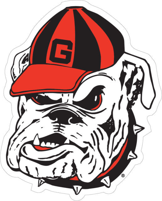 "Georgia Bulldogs 4"" UGA Dawg with Hat Logo Decal Sticker"