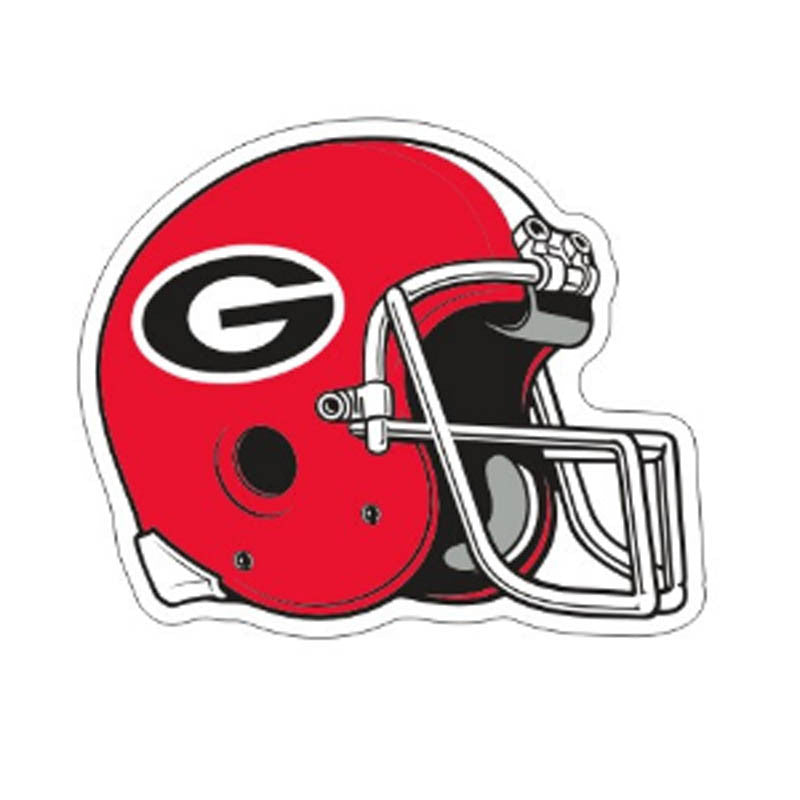 Georgia Bulldogs UGA Football Helmet Decal Sticker 6""