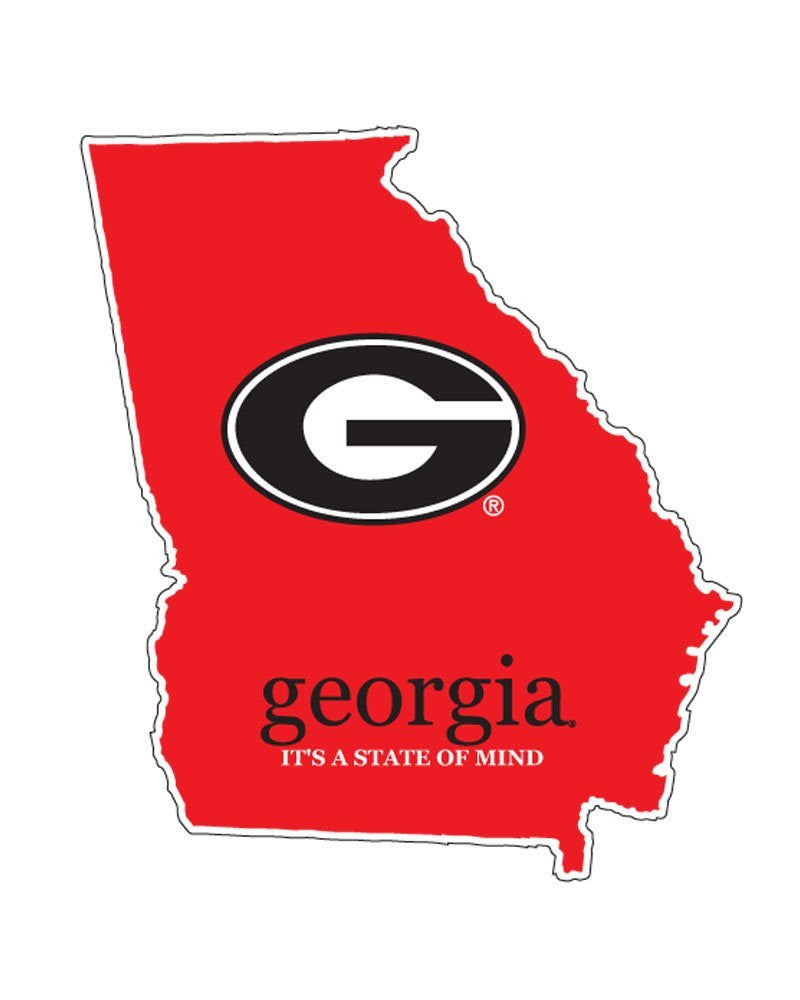 "UGA Decal 4"" Super G-It's A State Of Mind"