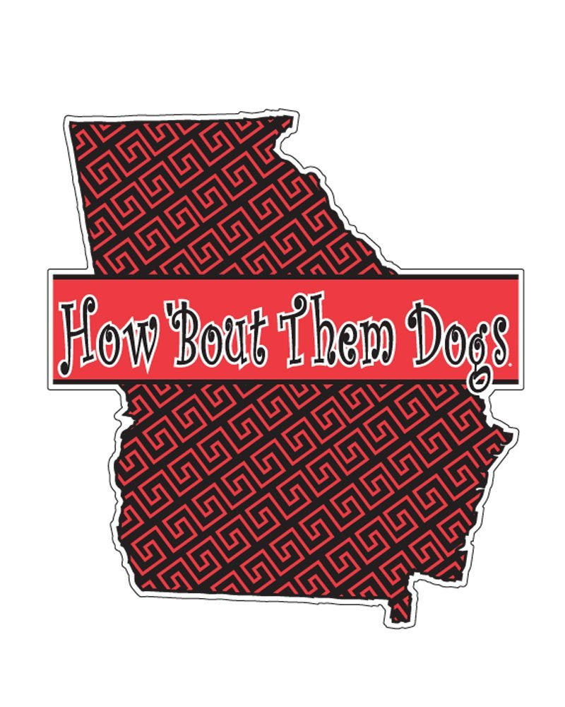 "UGA 4"" State-How Bout Them Dawgs Decal"