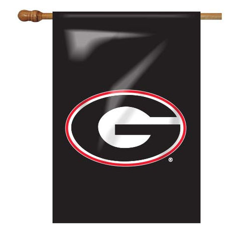 UGA Flag Super G Black House Flag