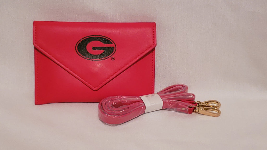 UGA Stadium Size Approved Leather Wristlet