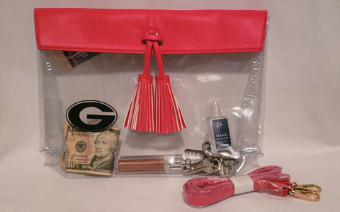 UGA Clear Stadium Purse