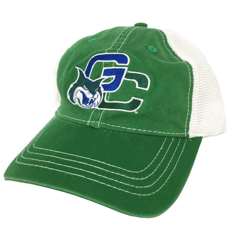 Georgia College GCSU Bobcats Unstructured Vintage Trucker Mesh Kelly Green/White Cap Hat