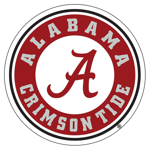 Alabama Crimson Tide Circle A Logo Decal Sticker 6""