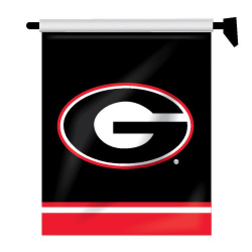Georgia Bulldogs UGA Super G Black Garden Mailbox Flag