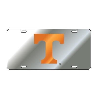 Tennessee Laser Silver/Orange T Mirrored License Plate